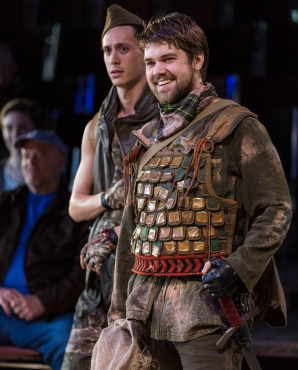 Jose Gamo and Trace Pope in Hudsen Valley Shakespeare Festival's 2018 production of THE HEART OF ROBIN HOOD - Photo by T. Charles Erickson